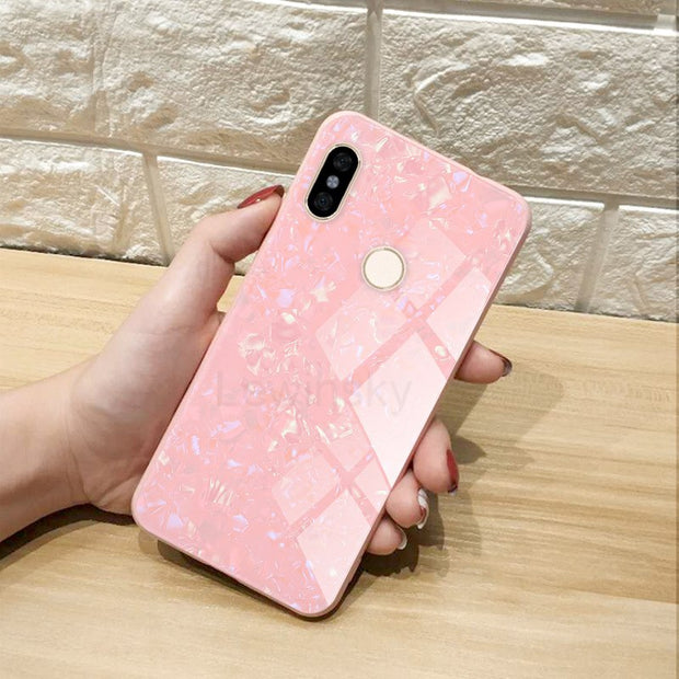Tempered Glass Cases For Xiaomi MI 6 6X 8 MI MIX 2S Note 3 Soft Silicone Frame Bling Shell Cover For Xiaomi Redmi Note 5 S2 Case
