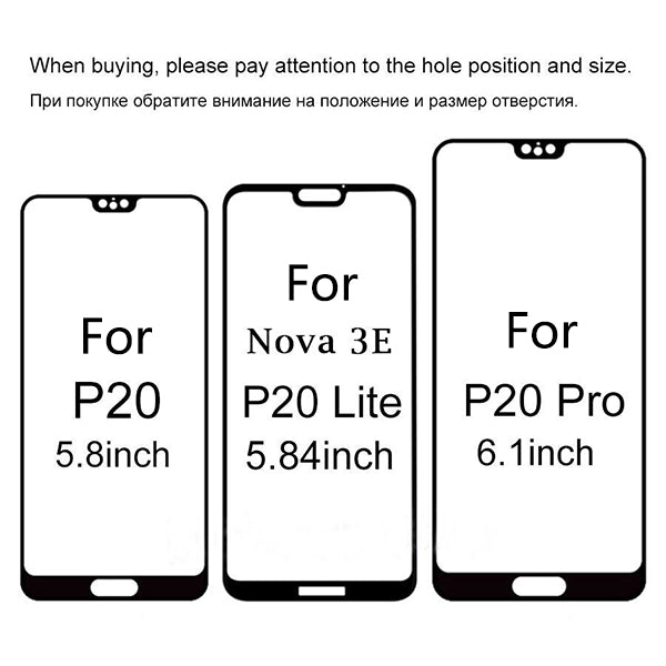 Tempered Glass For Huawei P20 Lite Screen Protector Case For Huawei P20 P 20 Lite Pro Plus 9H Protective Glass Full Cover Film
