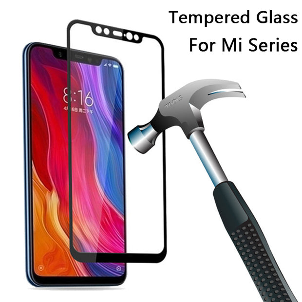 Tempered Glass For Xiaomi Mi Mix 2S Screen Protector For Xiaomi Mi 8 SE Mix 2 2s A1 A2 6 5 5C 5S Plus Note 3 5X Full Cover Film