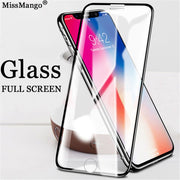 Tempered Glass For IPhone X Screen Protector Case For IPhone X 8 7 6 6S Plus 10 9H Protective Glass Full Cover Front Film I7 Ix