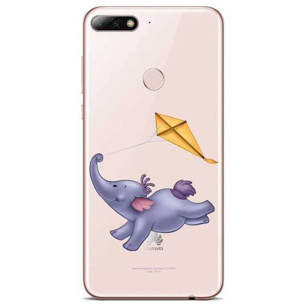The Winnie Pooh Cartoon Naughty Lovely Eeyore Phone Case For P8 LITE 2017 P9 P10 P20L P10 P20Plus Soft TPU Cover