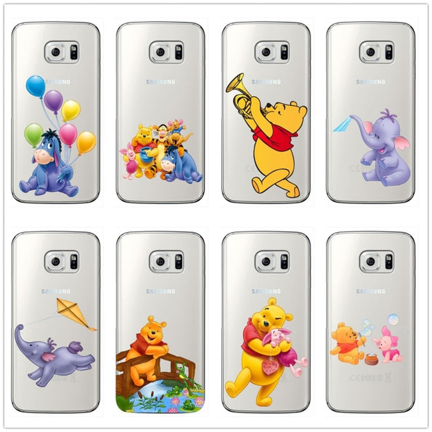 The Winnie Pooh Cartoon Naughty Lovely Eeyore Soft Silicone Phone Case For Samsung Galaxy S6 S7 Edge S8 S9 Plus For Note 8 9