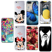 Thin Soft Phone Case For IPhone 5 5s Se 6 6S 7 Plus 8 Plus Case Silicone Rose Fruit Animal Minnie Cover For IPhone 7 Case