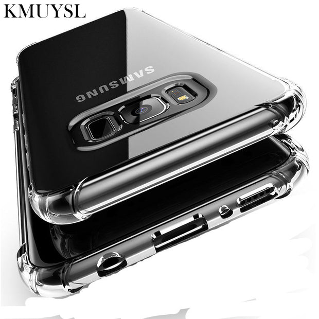 Transparent Case For Samsung Galaxy S9 S8 Plus S6 S7 Edge A8 A6 J4 J6 J8 2018 Note 8 A3 A5 A7 J3 J5 J7 2016 2017 Silicone Cover