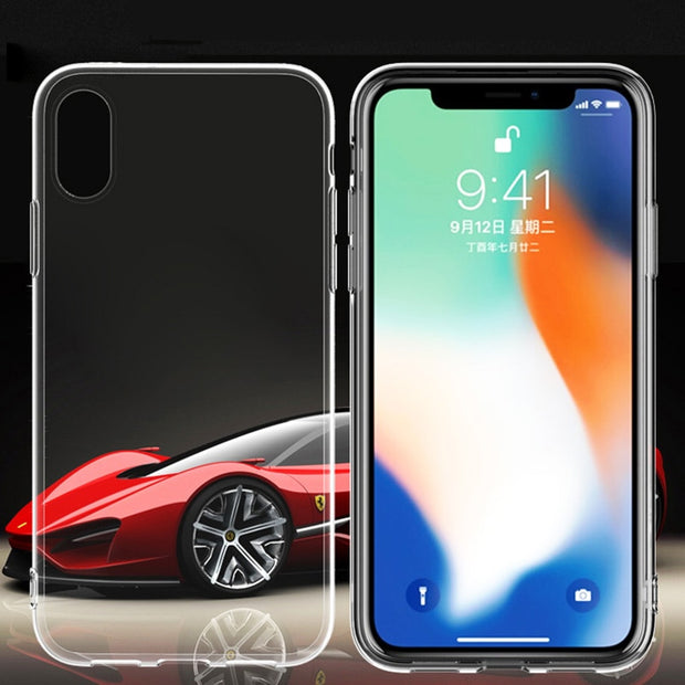 Transparent Case For IPhone XS Max XR 8 7 6 X 6S Plus 5S SE 5 4 S 4S High Clear Ultra Thin Phone Cases Cover Protect Shell Capa