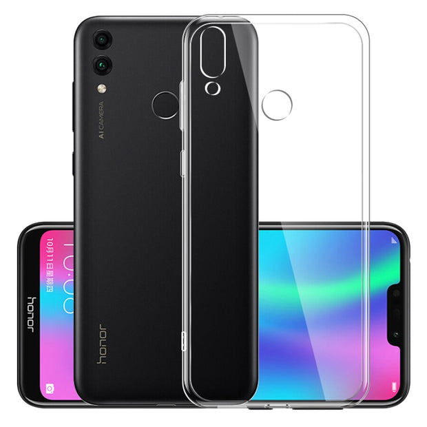 Transparent Crystal Clear Silicone Soft Cover Cases For Huawei P20 P30 Mate 20 Pro Lite Nova 3i 4 2s Honor 7C 8X Max 7X 6X 10 9