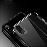 Transparent Plating Phone Case For IPhone X Silicone Case For IPhone 7 8 6 6S Plus Shockproof Case Back Cover