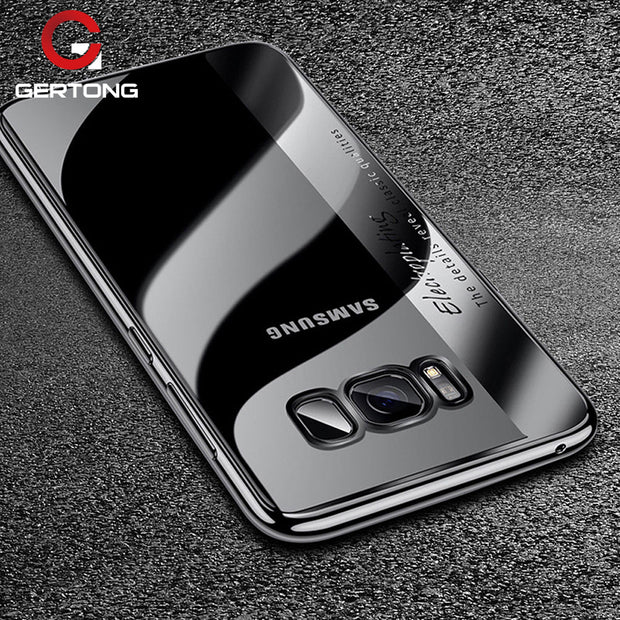 Transparent Plating TPU Case For Samsung Galaxy S8 S9 Plus Note 8 Ultra Slim Silicone Back Cover 2 In 1 Combo Cases Capa