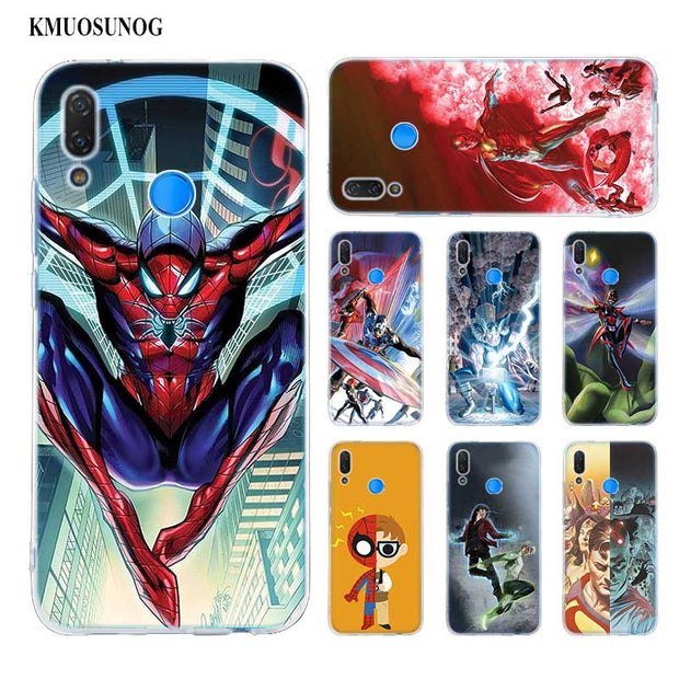 Transparent Soft Silicone Phone Case All Different Avengers For Huawei P Smart Nova 3i P20 P10 P9 P8 Lite 2017 Pro Plus