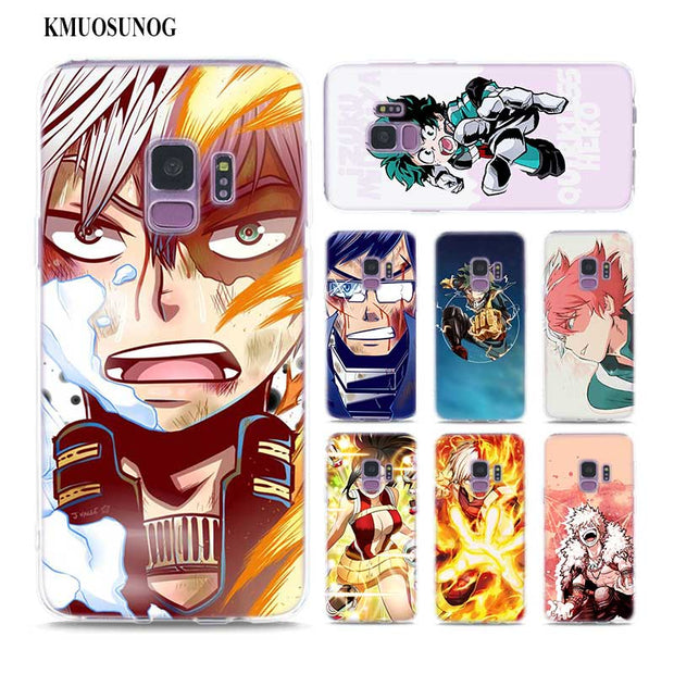 Transparent Soft Silicone Phone Case Anime My Hero Academia For Samsung Galaxy Note 9 8 S9 S8 Plus S7 S6 Edge S5 S4 Mini