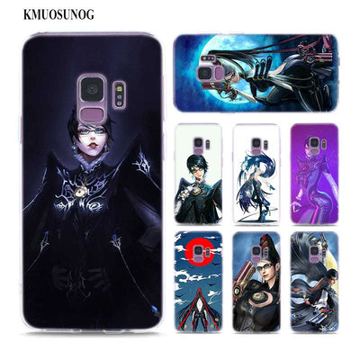 Transparent Soft Silicone Phone Case Bayonetta Video Game For Samsung Galaxy Note 9 8 S9 S8 Plus S7 S6 Edge S5 S4 Mini
