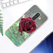 Transparent Soft Silicone Phone Case Beautiful Garden Red Roses Flowers For Samsung Galaxy A9 A8 Star A7 A6 A5 A3 Plus 2018 2017