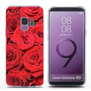 Transparent Soft Silicone Phone Case Beautiful Red Roses Flowers For Samsung Galaxy Note 9 8 S9 S8 Plus S7 S6 Edge S5 S4 Mini