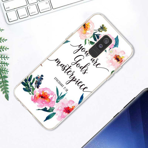 Transparent Soft Silicone Phone Case Bible Verse Philippians Jesus For Samsung Galaxy A9 A8 Star A7 A6 A5 A3 Plus 2018 2017 201