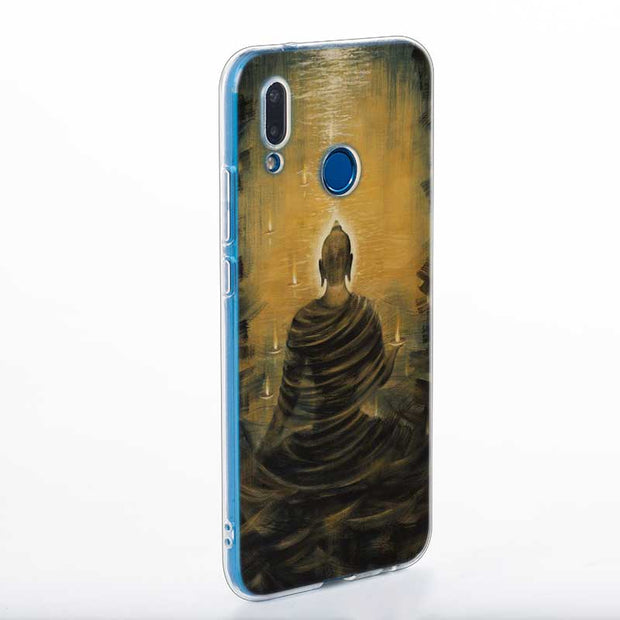 Transparent Soft Silicone Phone Case Buddha Painting Art For Huawei P Smart Nova 3i P20 P10 P9 P8 Lite 2017 Pro Plus