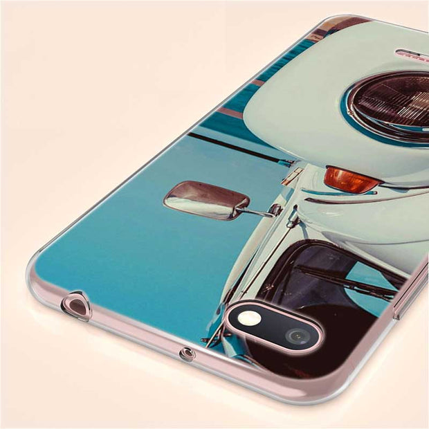 Transparent Soft Silicone Phone Case Classic Vintage Old Retro Car For Xiaomi A1 A2 8 F1 Redmi S2 Note 4X 5 6 5A 6A Pro Lite Plu