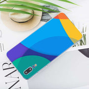 Transparent Soft Silicone Phone Case Colorful Colors Square Lines For Huawei P Smart Nova 3i P20 P10 P9 P8 Lite 2017 Pro Plus