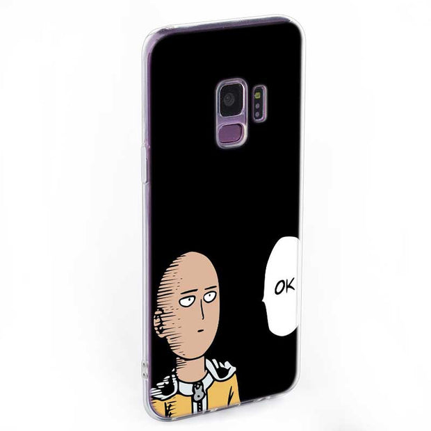 Transparent Soft Silicone Phone Case Cool One Punch Man For Samsung Galaxy Note 9 8 S9 S8 Plus S7 S6 Edge S5 S4 Mini