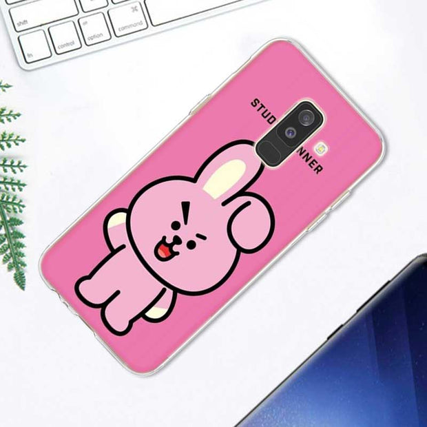 Transparent Soft Silicone Phone Case Cute BTS BT21 For Samsung Galaxy A9 A8 Star A7 A6 A5 A3 Plus 2018 2017 2016