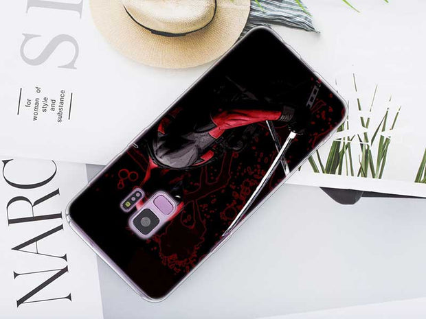 Transparent Soft Silicone Phone Case Cute Deadpool For Samsung Galaxy Note 9 8 S9 S8 Plus S7 S6 Edge S5 S4 Mini