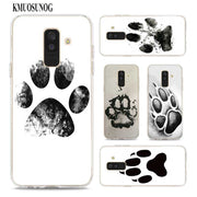 Transparent Soft Silicone Phone Case Dogs Are Girls Best Friends Dog Paw For Samsung Galaxy A9 A8 Star A7 A6 A5 A3 Plus 2018