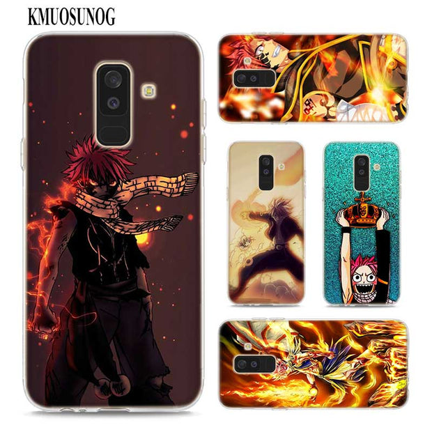 Transparent Soft Silicone Phone Case Fairy Tail Natsu Logo For Samsung Galaxy A9 A8 Star A7 A6 A5 A3 Plus 2018 2017 2016