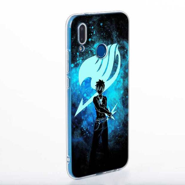 Transparent Soft Silicone Phone Case Fairy Tail Natsu Logo For Huawei P Smart Nova 3i P20 P10 P9 P8 Lite 2017 Pro Plus