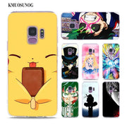 Transparent Soft Silicone Phone Case Japanese Films Anime Cartoon Comic Art For Samsung Galaxy Note 9 8 S9 S8 Plus S7 S6 Edge S5