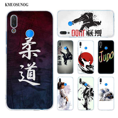 Transparent Soft Silicone Phone Case Judo Taekwondo For Huawei P Smart Nova 3i P20 P10 P9 P8 Lite 2017 Pro Plus