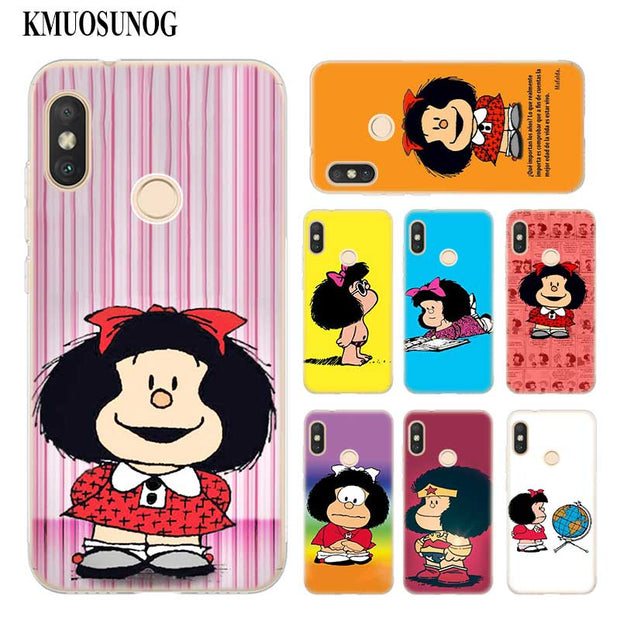 Transparent Soft Silicone Phone Case Mafalda For Xiaomi A1 A2 8 F1 Redmi S2 Note 4X 5 6 5A 6A Pro Lite Plus