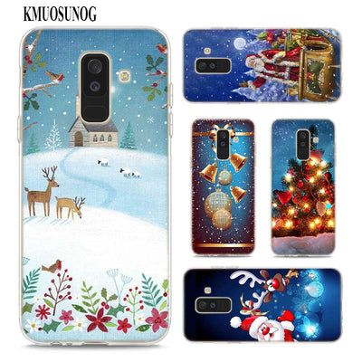 Transparent Soft Silicone Phone Case Merry Christmas For Samsung Galaxy A9 A8 Star A7 A6 A5 A3 Plus 2018 2017 2016
