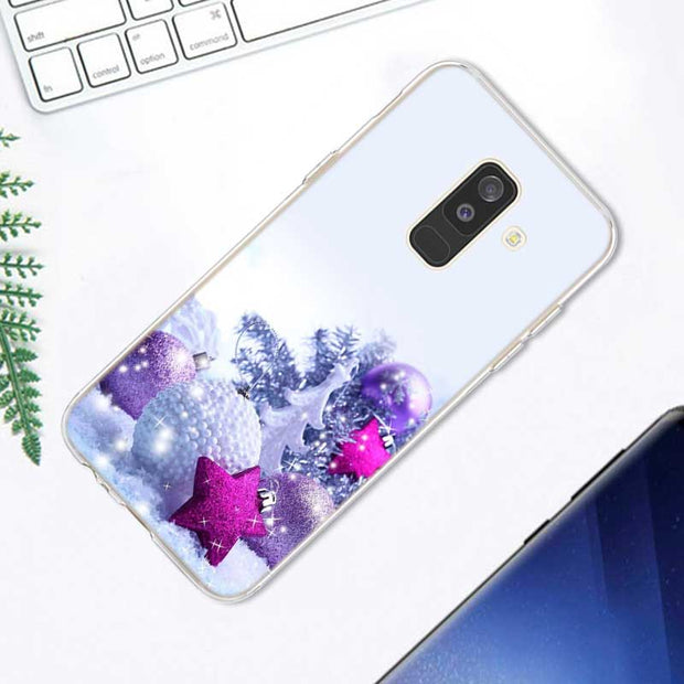 Transparent Soft Silicone Phone Case Merry Christmas Snow Man Deer For Samsung Galaxy A9 A8 Star A7 A6 A5 A3 Plus 2018 2017 2016