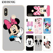 Transparent Soft Silicone Phone Case Mickey Minnie Funny Face For Xiaomi A1 A2 8 F1 Redmi S2 Note 4X 5 6 5A 6A Pro Lite Plus