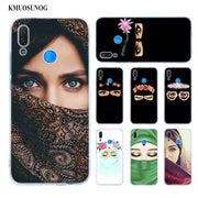 Transparent Soft Silicone Phone Case Muslim Islamic Gril Eyes For Huawei P Smart Nova 3i P20 P10 P9 P8 Lite 2017 Pro Plus