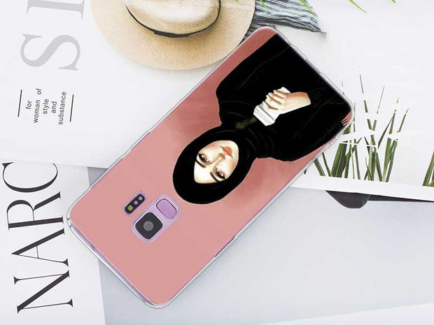 Transparent Soft Silicone Phone Case Muslim Islamic Gril For Samsung Galaxy Note 9 8 S9 S8 Plus S7 S6 Edge S5 S4 Mini