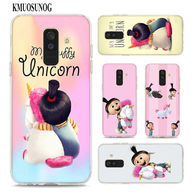 Transparent Soft Silicone Phone Case My Fluffy Unicorn Agnes For Samsung Galaxy A9 A8 Star A7 A6 A5 A3 Plus 2018 2017 2016