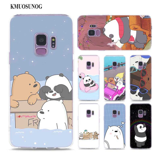 best service 4008b 3c454 Transparent Soft Silicone Phone Case New We Bare Bears For Samsung Galaxy  Note 9 8 S9 S8 Plus S7 S6 Edge S5 S4 Mini