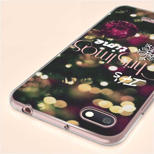 Transparent Soft Silicone Phone Case New Year Gifts Christmas For Xiaomi A1 A2 8 F1 Redmi S2 Note 4X 5 6 5A 6A Pro Lite Plus