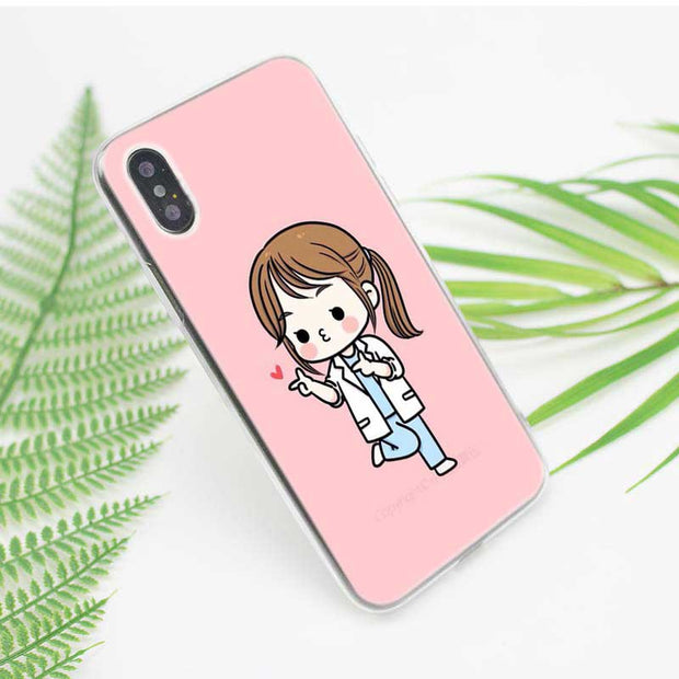 Transparent Soft Silicone Phone Case Nurse Medical Medicine Health Heart Style For IPhone XS X XR Max 8 7 6 6S Plus 5 5S SE