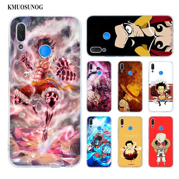 Transparent Soft Silicone Phone Case One Piece Luffy Gear 4 For Huawei P Smart Nova 3i P20 P10 P9 P8 Lite 2017 Pro Plus