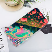 Transparent Soft Silicone Phone Case Psychedelic Trippy Weed Style For IPhone XS X XR Max 8 7 6 6S Plus 5 5S SE