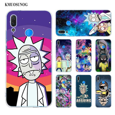 Transparent Soft Silicone Phone Case Rick And Morty For Huawei P Smart Nova 3i P20 P10 P9 P8 Lite 2017 Pro Plus
