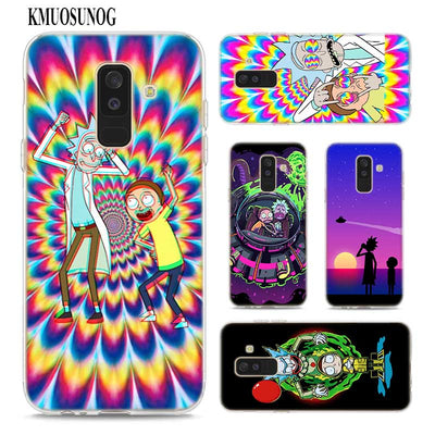 Transparent Soft Silicone Phone Case Rick And Morty Cartoon For Samsung Galaxy A9 A8 Star A7 A6 A5 A3 Plus 2018 2017 2016
