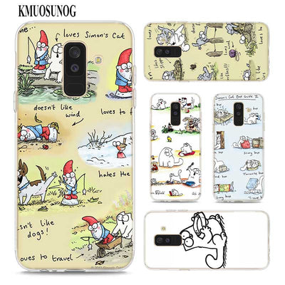 Transparent Soft Silicone Phone Case Simons Cat For Samsung Galaxy A9 A8 Star A7 A6 A5 A3 Plus 2018 2017 2016