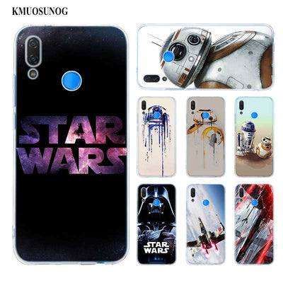 Transparent Soft Silicone Phone Case Star Wars BB8 For Huawei P Smart Nova 3i P20 P10 P9 P8 Lite 2017 Pro Plus