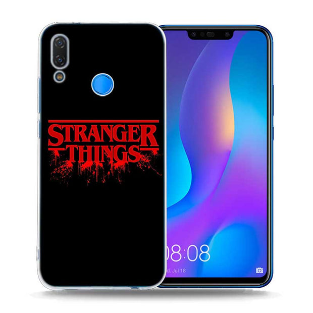 Transparent Soft Silicone Phone Case Stranger Things For Huawei P ...