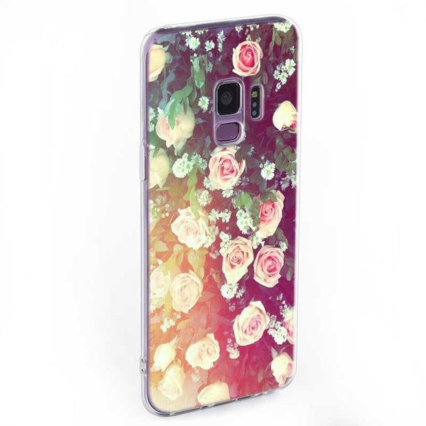 Transparent Soft Silicone Phone Case Sunflower Flowers Rose For Samsung Galaxy Note 9 8 S9 S8 Plus S7 S6 Edge S5 S4 Mini