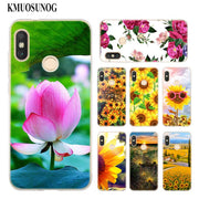 Transparent Soft Silicone Phone Case Sunflower Flowers Rose For Xiaomi A1 A2 8 F1 Redmi S2 Note 4X 5 6 5A 6A Pro Lite Plus