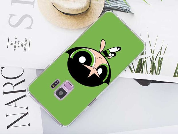 Transparent Soft Silicone Phone Case The Powerpuff Girls For Samsung Galaxy Note 9 8 S9 S8 Plus S7 S6 Edge S5 S4 Mini