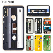Transparent Soft Silicone Phone Case Vintage Magnetic Tape Cassette For Xiaomi A1 A2 8 F1 Redmi S2 Note 4X 5 6 5A 6A Pro Lite